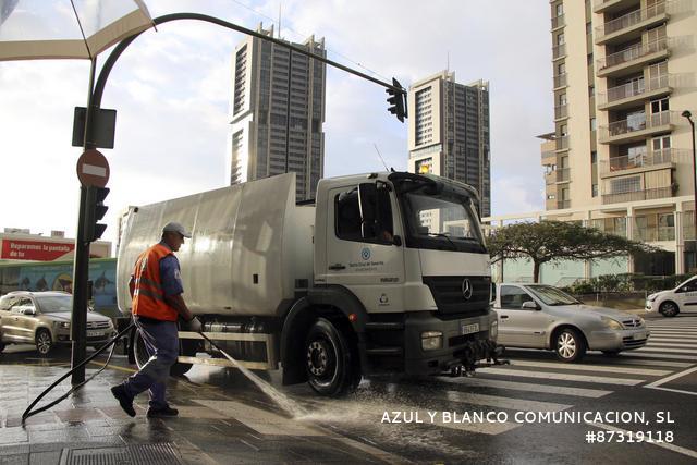 Limpieza en Santa Cruz de Tenerife